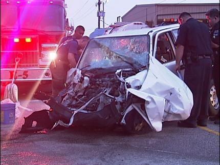 Tulsa Driver Crashes Into Tanker Truck