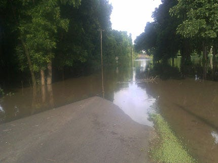 Flooding Along Bird Creek Closes Several County Roads And Highways
