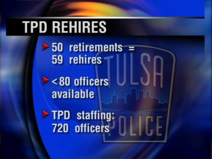 Tulsa Mayor Says Laid Off Police Officers To Be Rehired Next Month