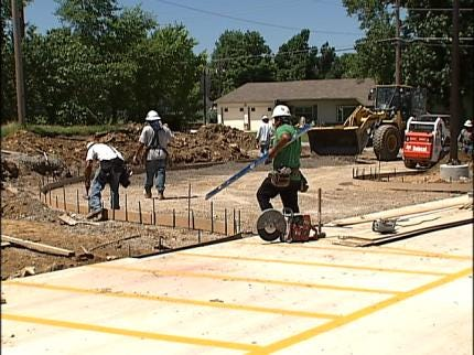 Crews Race To Finish Collinsville City Park Upgrades In Time For Holiday Weekend