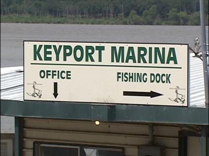 Storm Damages Marina Docks At Keystone Lake