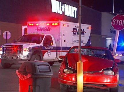 Two Pedestrians Hit By Car In Tulsa Walmart Parking Lot