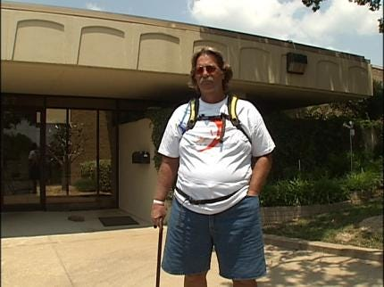 Stroke Survivor Walking Across America Makes Stop In Tulsa