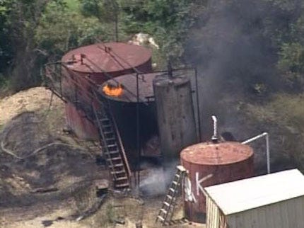Oil Tank Explodes Near Kiefer Injuring Two Workers