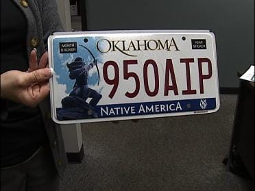 New Oklahoma License Plate Wins Best Plate Award