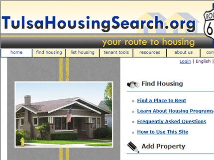 New City Of Tulsa Web site Helps With House Hunting