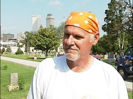 PSO Worker, Volunteers Answer Mayor Dewey Bartlett's Call For Mowing Help