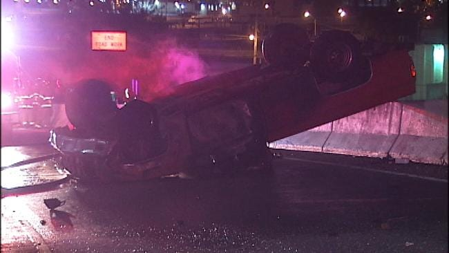 Driver Disappears After Crashing Pickup Truck In Downtown Tulsa