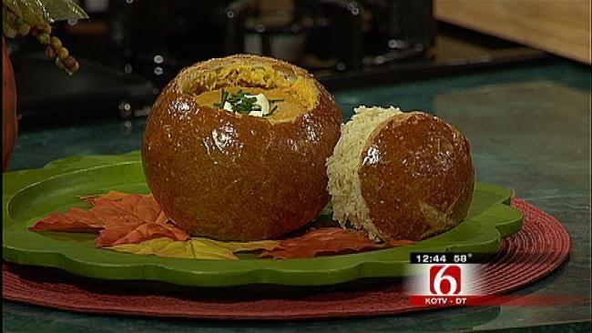 Pumpkin Soup In Panera Bread Bowl