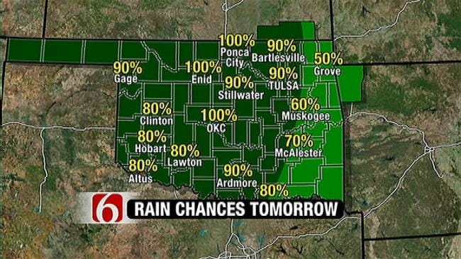 System To Bring Rain, Cooler Temps To Green Country