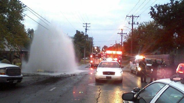 Tulsa Wreck Causes Major Water Leak