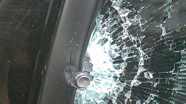 Mystery Bullet Strikes Tulsa Man's Truck While He Was Driving