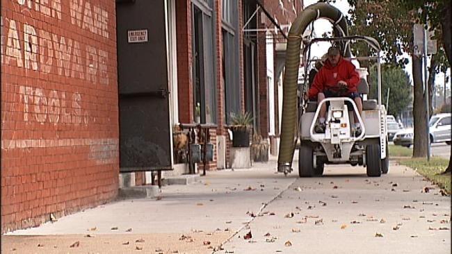Machine Sucks Up Trash, Underwear In Downtown Tulsa