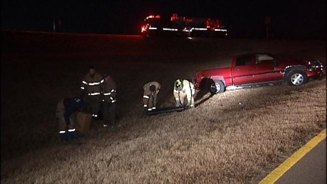 Driver Hospitalized After Tulsa Rollover Wreck