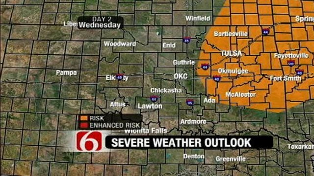 Chance For Severe Storms In Oklahoma Ahead Of Thanksgiving Cold Front