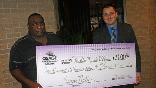 Osage Nation And Million Dollar Elm Casinos Help With Tulsa Food Baskets