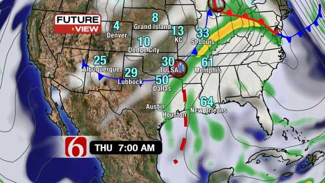 Cold Front Moves Into Green Country For Holiday Weekend