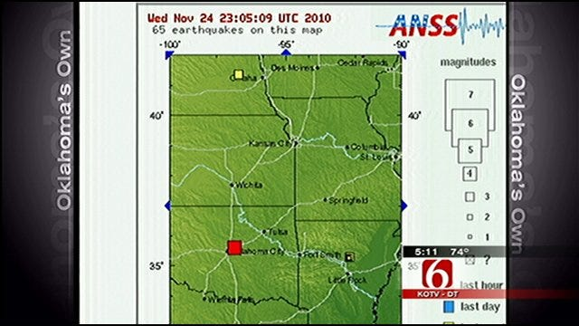 Two Earthquakes Rattle Parts Of Oklahoma