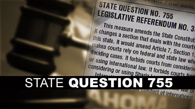 Federal Judge Rules Against Oklahoma Sharia Law Ban