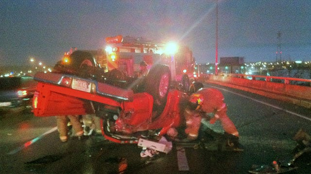 Wet Road Could Have Been A Factor In BA Expressway Rollover Wreck