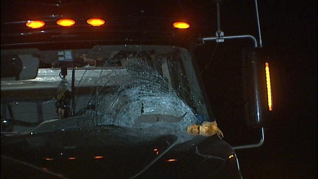 Truck Driver Survives Pumpkin Tossed From Creek Turnpike Bridge Into His Truck