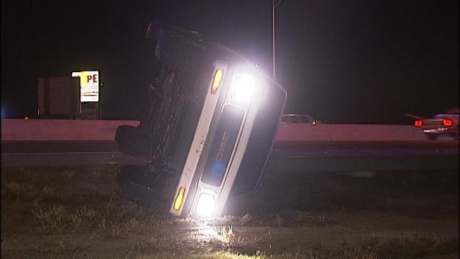 Driver Not Injured In Tulsa Highway Crash