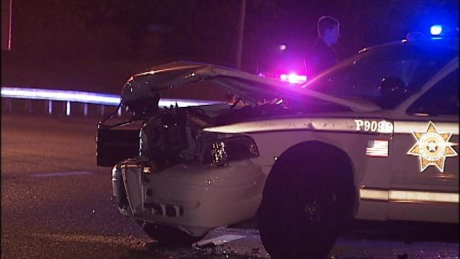Tulsa Police Officer Injured After Crashing His Patrol Car