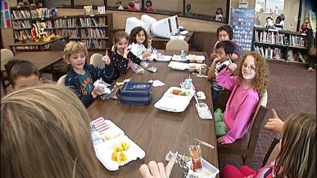Jenks School Kids Have Tea With Principal