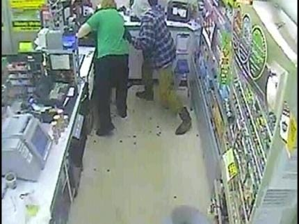 West Tulsa Convenience Store Robbery Surveillance Video Released