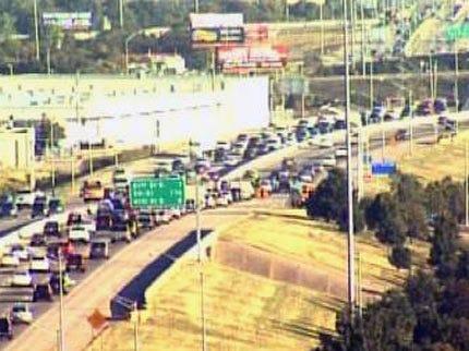 Wrong Way Driver Ties Up Tulsa Highway Traffic