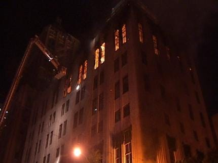 'Nuisance' Building Catches Fire In Downtown Tulsa