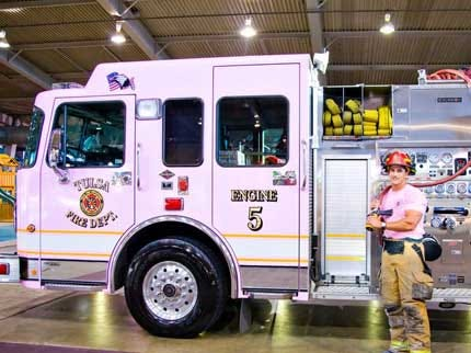 Tulsa Fire Truck Turns Pink For A Cause