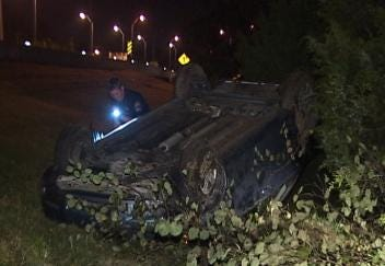 Tulsa Police: Man Flips Girlfriend's Car, Leaves Scene