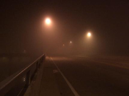 Dense Morning Fog Blankets Green Country