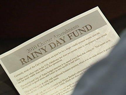 Tulsa City Councilor Pushing Rainy Day Fund