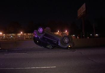 Rollover Accident Shuts Down Tulsa Interstate Early Friday Morning