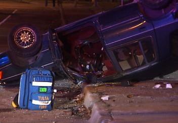 Three Injured In Tulsa Two-Car Collision