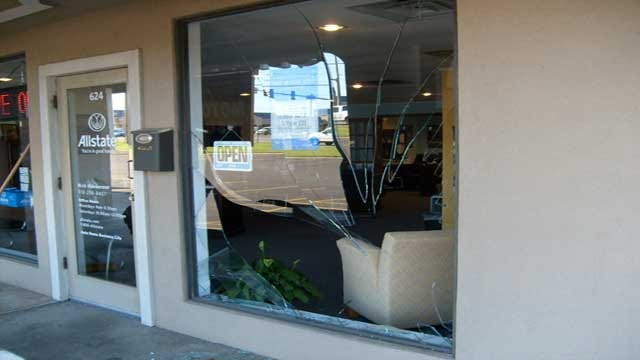 Deer Smashes Through Office
