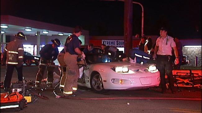 Driver Sought In Tulsa Crash
