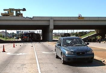 Highway 169 Bridge In Tulsa Repaired After Dump Truck Crashed Through Guardrail