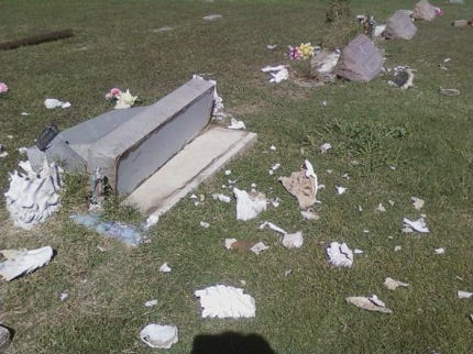Vandals Strike Northern Rogers County Cemetery