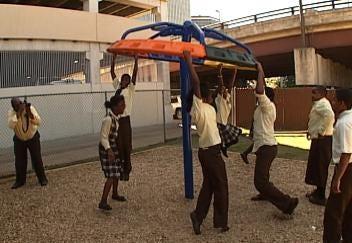Tulsa Charter School Dedicates New Playground