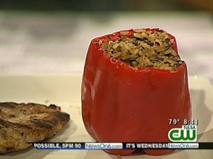 Cheese and Rice Stuffed Peppers