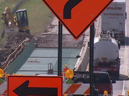 Construction Closes Highway 75 At Interstate 44 In Tulsa - Again