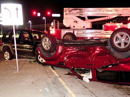 Seatbelts Credited For Lack Of Injuries In Tulsa Rollover Wreck