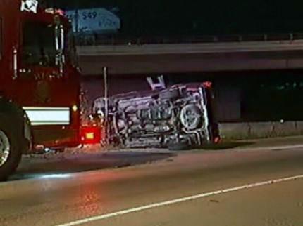 Oklahoma Highway Patrol: Sleepy Driver Rolls Pickup Truck On I-44