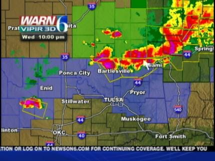 Severe Weather Rolled Across Northern Oklahoma Wednesday Night