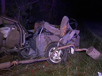 Two Young Claremore Sisters Killed In One-Car Wreck Near Foyil