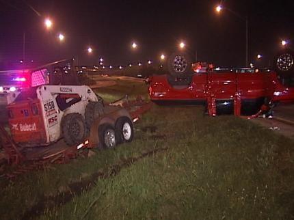 Tulsa Police Investigate Two Rollover Wrecks Early Monday