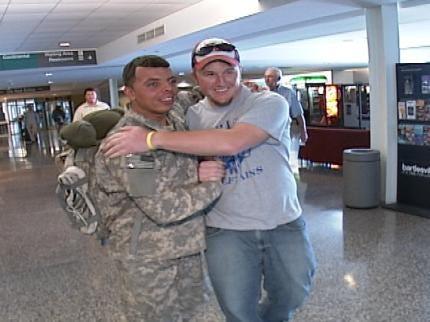 Oklahoma Soldier Surprises Wife, Meets Newborn Son